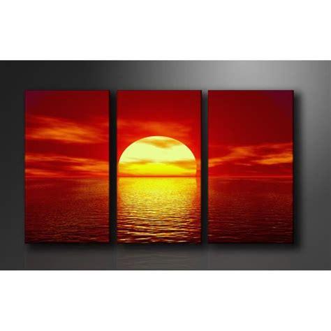 tableau triptyque imprim 233 160x90 cm couche soleil achat