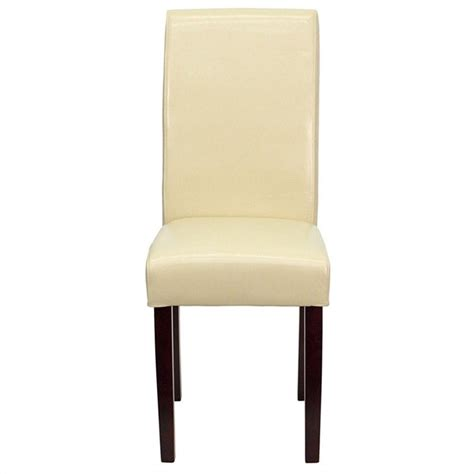 upholstered parsons dining chair in ivory bt 350 ivory