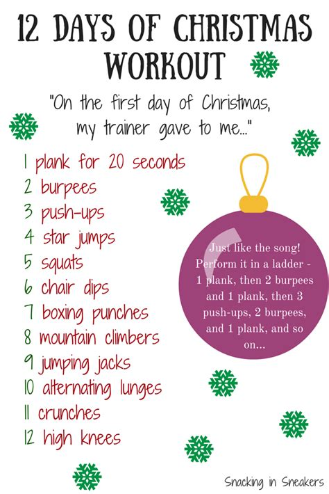 The 12 Days Of Christmas Workout  Eat Smart, Move More, Prevent Diabetes