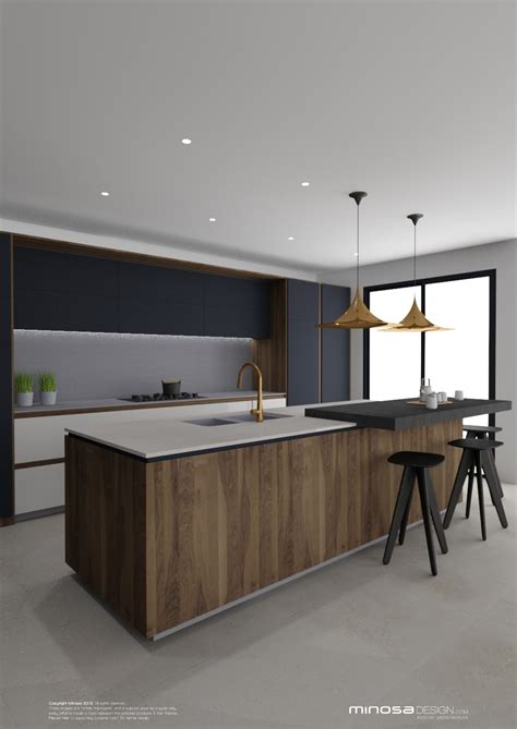 Minosa Striking Kitchen Design With Rich Wood & Copper