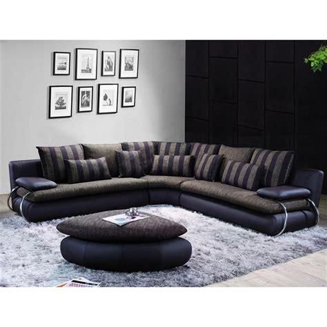 canap 233 d angle luxe ambre r 233 versible chocolat achat vente canap 233 sofa divan tissu