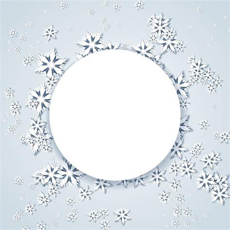 contexte de flocons de neige et cadre circulaire t 233 l 233 charger des vecteurs gratuitement