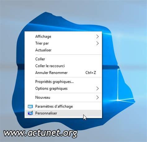 windows 10 afficher des ic 244 nes syst 232 me sur le bureau