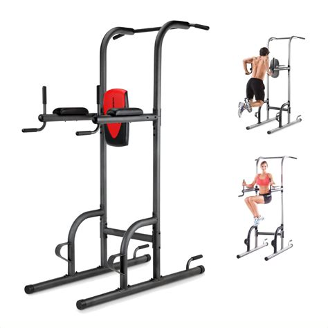 power tower home pull up push up dip station biceps shoulders ab workout what s it worth