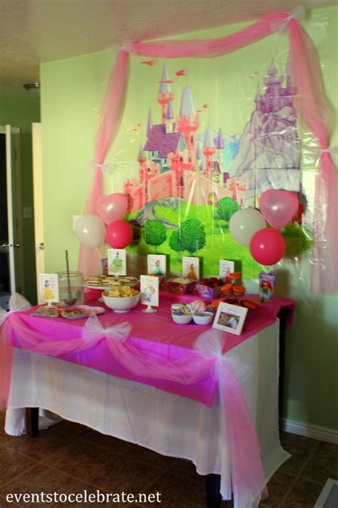 Disney Princess Birthday Party Ideas Food & Decorations