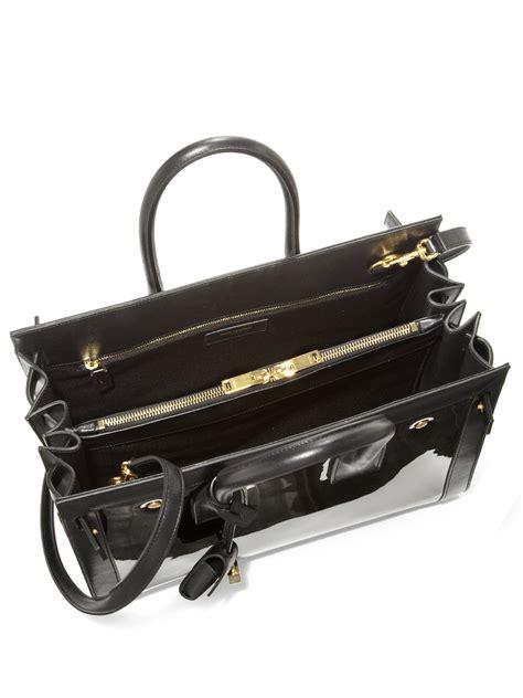 yves laurent black croc embossed nano sac de jour tote yves laurent tote handbags