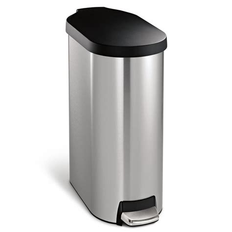 home design slim bathroom trash can with lid 4