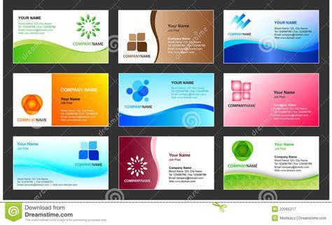 Business Card Template Design Stock Vector