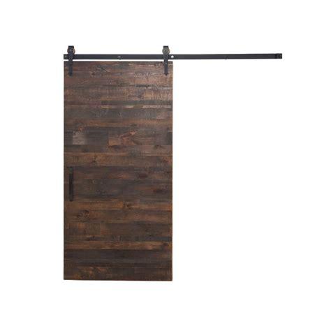 barn door home depot rustica hardware 42 in x 84 in rustica reclaimed wood