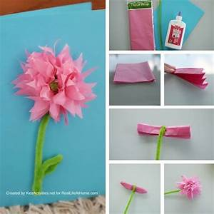 3D Flower Mother's Day Card Craft Step-by-Step Tutorial ...