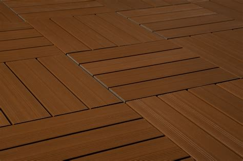 kontiki interlocking deck tiles composite quickdeck series teak 12 quot x12 quot x1 quot
