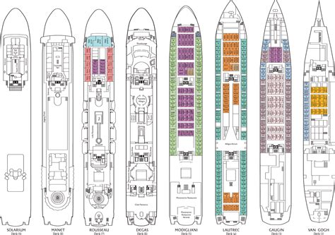 carnival cruise ships deck plans cruise ship deck plans