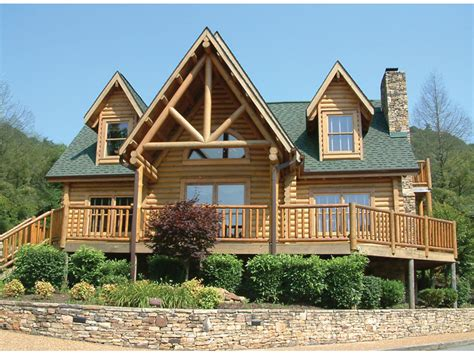 inspiring log home plans with wrap around porch nearby cbell creek log home plan 073d 0037 house plans and more