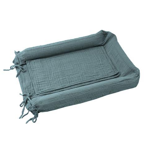 housse de matelas 224 langer bleu gris num 233 ro 74 pour chambre enfant les enfants du design