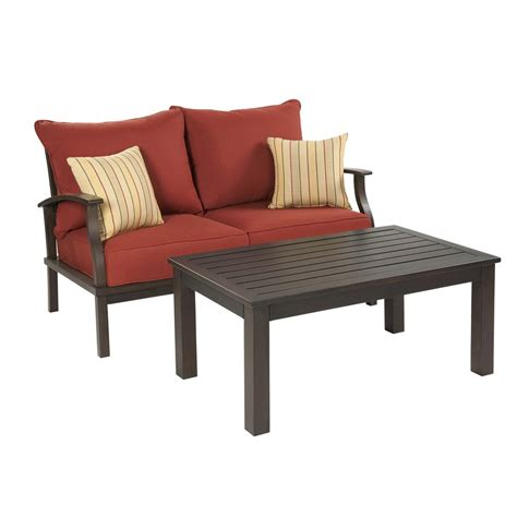 allen roth gatewood 2 outdoor loveseat and coffee table set lowe s canada