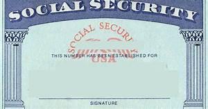 blank social security card template | Social Security card ...