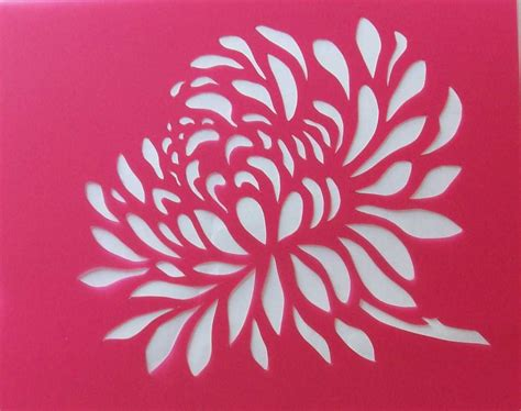 stencils pochoirs pochoir fleur chrisanth 232 me