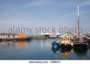Kirkwall Harbour Orkney Scotland with fishing boats moored ...