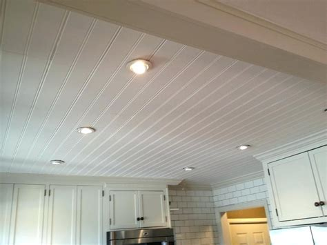 Beadboard Ceiling Panels Ceiling Tiles Installed Beadboard