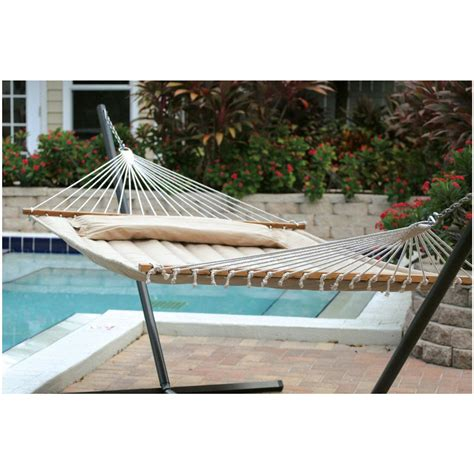 smart garden monte carlo premium poly hammock 427307 patio furniture at sportsman s guide