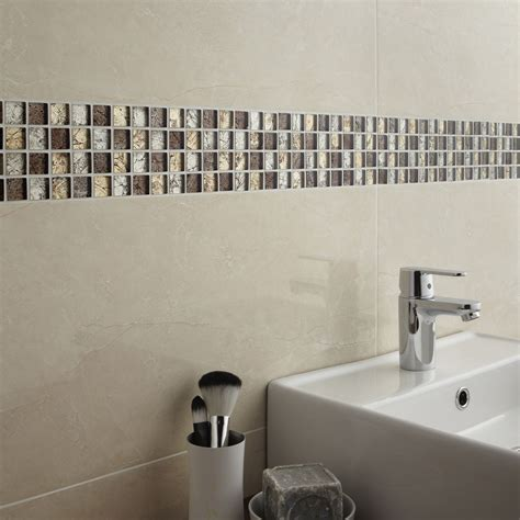 mosa 239 que mur glass select mix marron leroy merlin