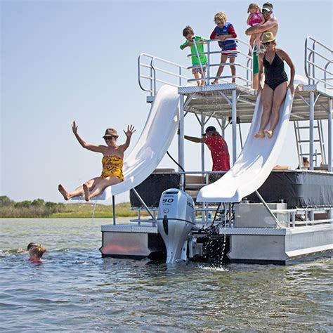 Pontoon Party Boat With Slide by Double Decker Pontoons In Panama City Beach