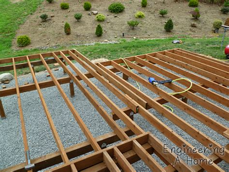 the deck joists blocking railing posts engineering a