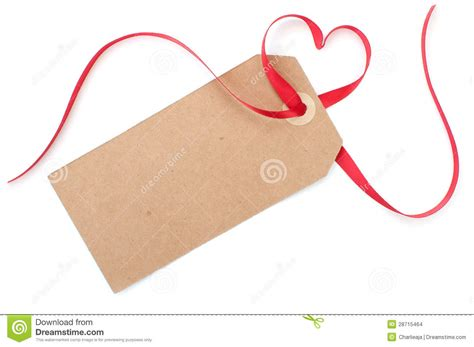Gift Tag With Heart Bow Stock Photo. Image Of Xmas
