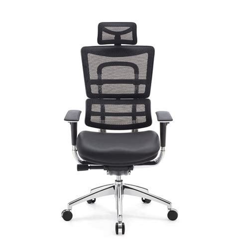 high back reclining office chair with headrest footrest