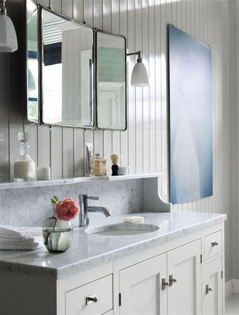 Beadboard Paneled Vanity Design Ideas
