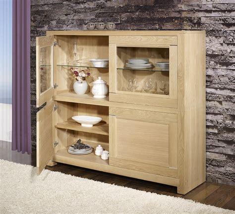 vitrine 4 portes en ch 234 ne massif de style contemporain finition ch 234 ne bross 233 naturel meuble en