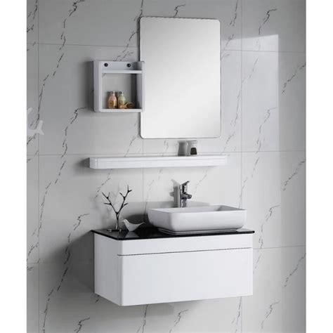 mod 232 le meuble haut salle de bain blanc laque