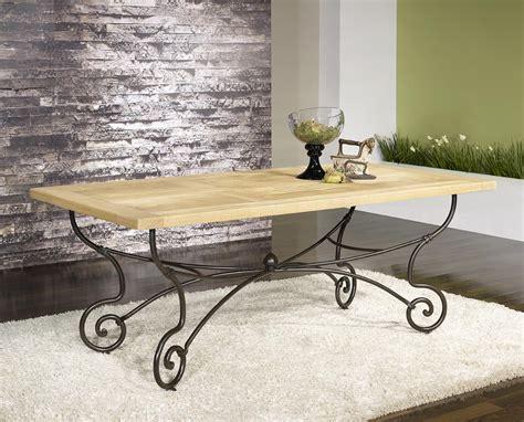 table rectangulaire 200 100 plateau chene massif 6 chaises en fer forg 233 meuble en ch 234 ne massif