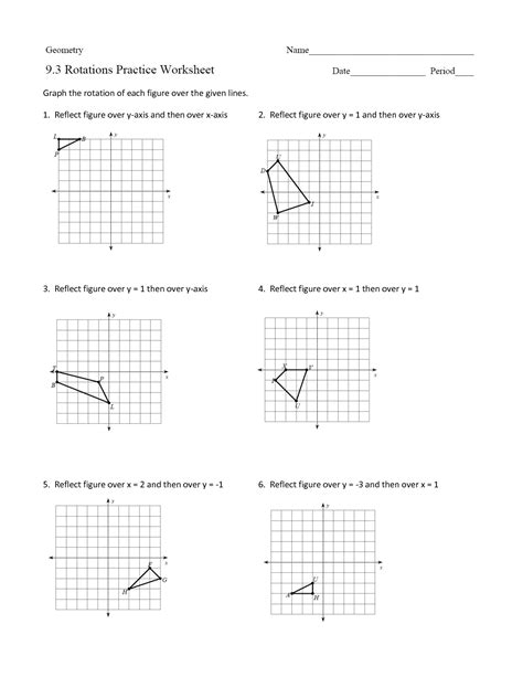 16 Best Images Of Rotations Worksheet 8th Grade  Geometry Rotations Worksheet, Geometry