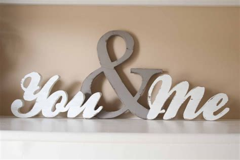 you and me wood word sign you me home decor