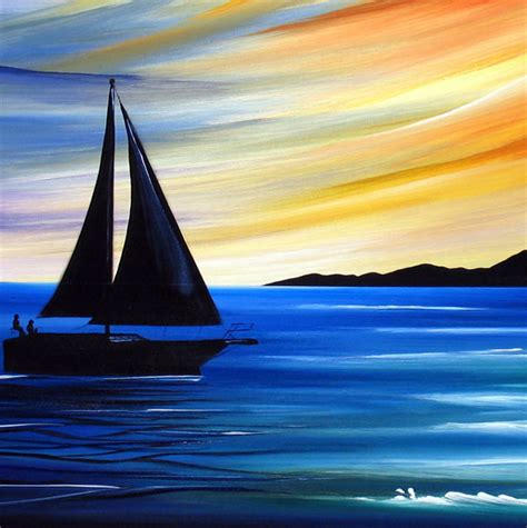 Sailboats Cartoon by Drawn Sunset Sailboat Pencil And In Color Drawn Sunset
