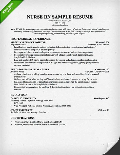 Nursing Resume Sample & Writing Guide  Resume Genius. Internship Recommendation Letter Sample Template. Single Page Brochure Design Template. Simple Performance Evaluation Forms Template. Free Personalized Magazine Covers Template. Memorial Day 2018 Closed Sign Template. It S A Boy Announcement Template. Bigcommerce Free Templates. Air Force Resume Example