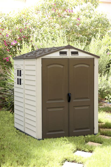 duramax 30411 storemate vinyl storage shed 6x6 75 9 x 74