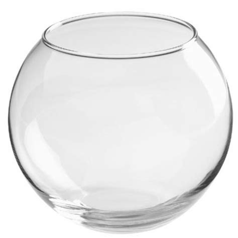 20cm Clear Glass Fish Bowl Vases For Wedding Party