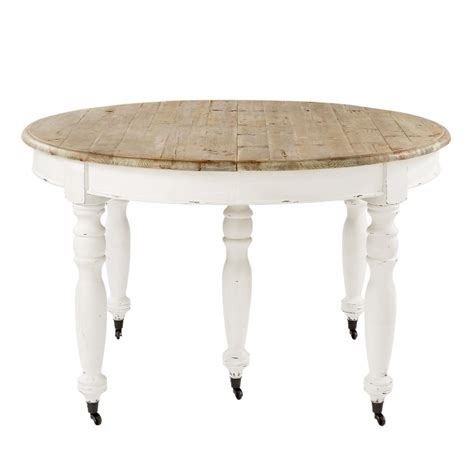 table de salle 224 manger 224 rallonges et roulettes en bois l 325 cm provence maisons du monde