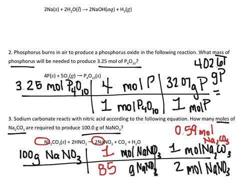 Worksheet Mole To Mole Stoichiometry Worksheet Grass Fedjp Worksheet Study Site