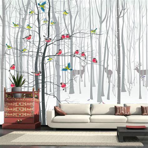 3d photo murale papier peint peintures murales pour salon moderne oiseau arbre noir blanc grande