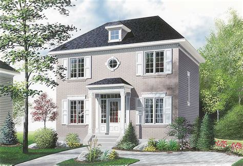 Compact Twostory House Plan  21004dr Architectural