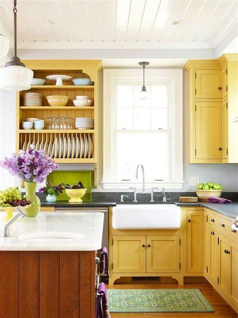 15 Bright And Cozy Yellow Kitchen Designs  Rilane
