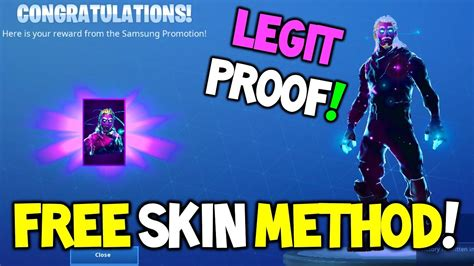 How To Get The Galaxy Skin For Free! Fortnite 100% Legit Method For The Galaxy Skin! Working