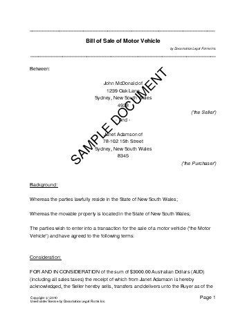Swap Boat For Car Qld by Vehicle Sale Receipt Template Australia Printable