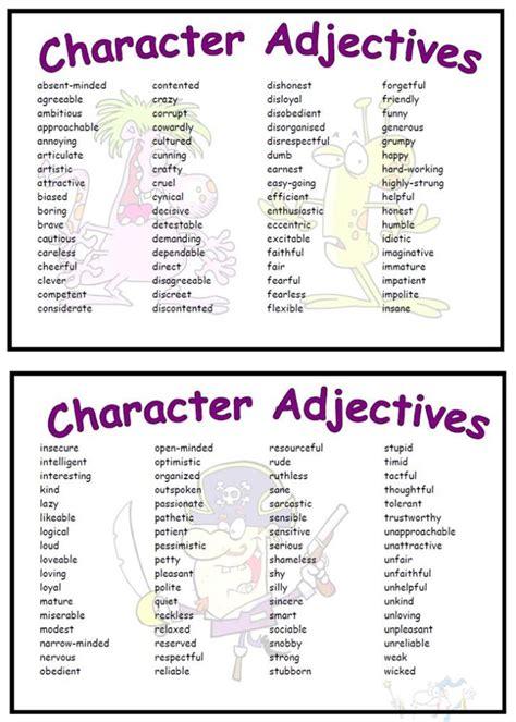 Adjectives For Describing A Character Poster Descriptive  Autos Post