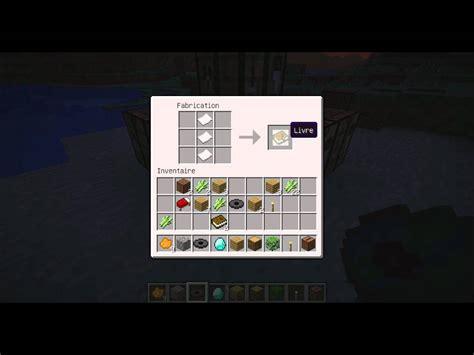 comment faire un livre minecraft