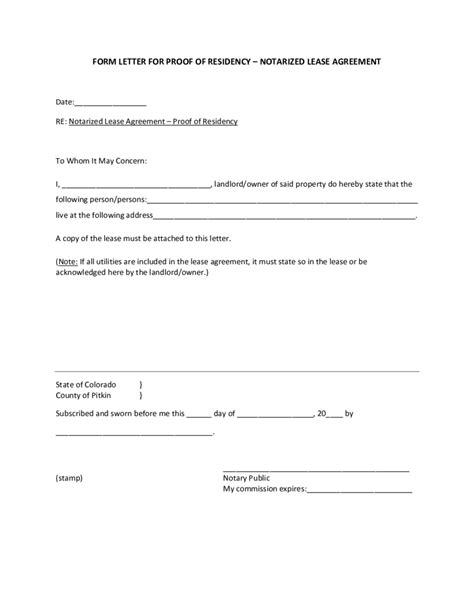 colorado dmv non resident form 2018 proof of residency letter fillable printable pdf