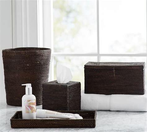 tava bath accessories espresso pottery barn